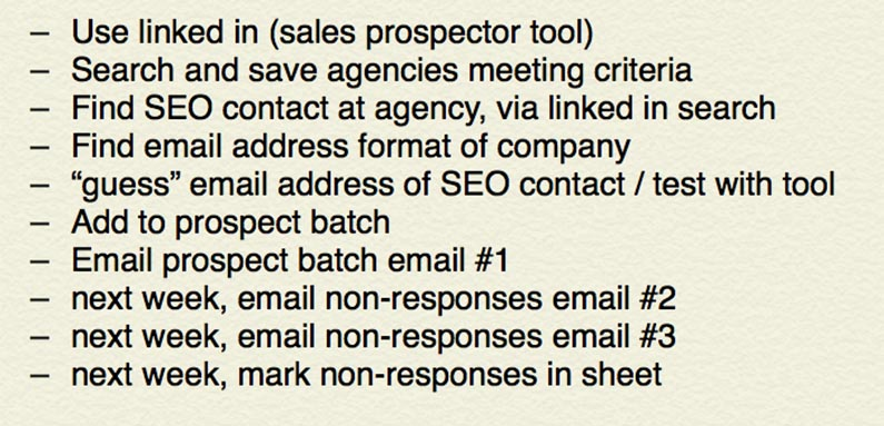 Outline for sales campaign to delegate to virtual assistant