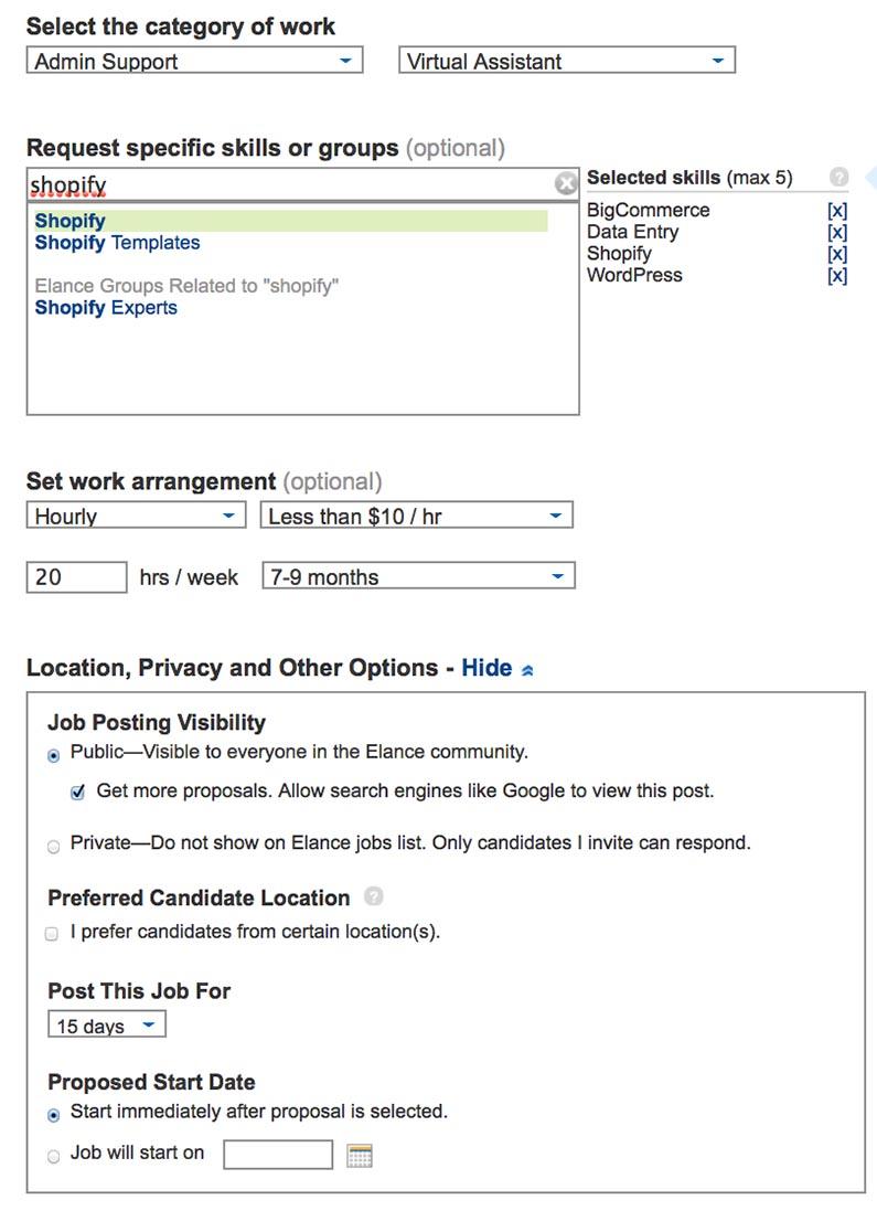 elance-job-posting-settings